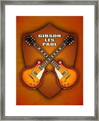 Gibson Les Paul Standart  Shield Framed Print by Doron Mafdoos