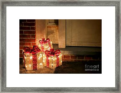 Gift Of Lights Framed Print by Olivier Le Queinec