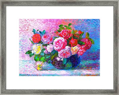 Gift Of Roses Framed Print by Jane Small