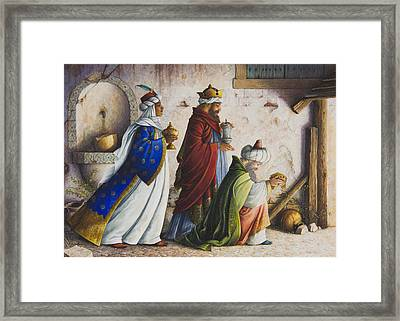 Bearing Gifts Framed Print by Lynn Bywaters