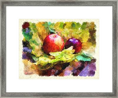 Gifts Of Autumn Framed Print by Marina Likholat
