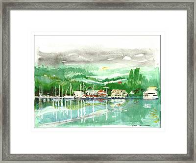 Gig Harbor Waterfront Framed Print by Jack Pumphrey