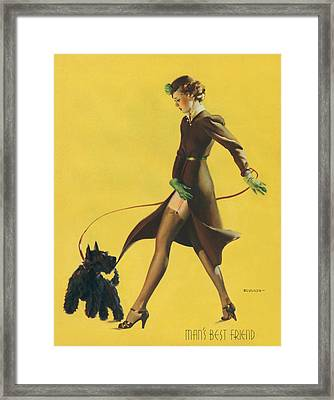 Gil Elvgren's Pin-up Girl Framed Print by Underwood Archives