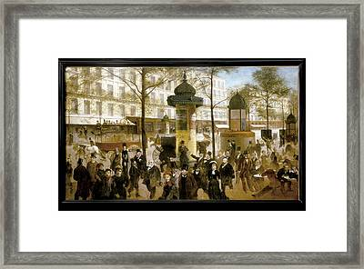 Gill, Andr� 1840-1885. Sketch Framed Print by Everett