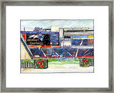Gillette Holidays Framed Print by Dave Olsen