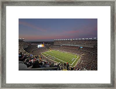 Gillette Stadium In Foxboro  Framed Print by Juergen Roth