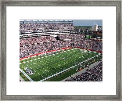 Gillette Stadium Framed Print by Georgia Fowler