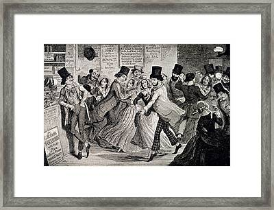 Gin-shop To Dancing-room Framed Print by British Library