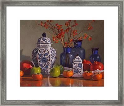 Ginger Jars Framed Print by Sarah Blumenschein