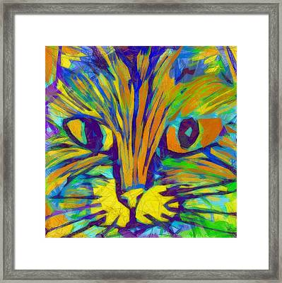 Ginger Kitty Framed Print by Michelle Calkins