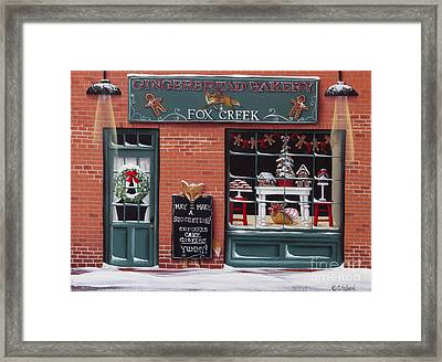 Gingerbread Bakery At Fox Creek Framed Print by Catherine Holman
