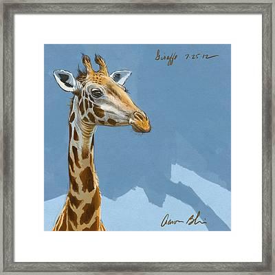 Giraffe Framed Print by Aaron Blaise