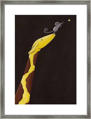 Giraffe Nursery Art Framed Print by Christy Beckwith