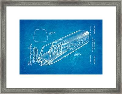 Girardy Railway Observation Car Patent Art 1951 Blueprint Framed Print by Ian Monk