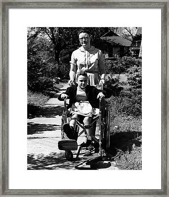 Girl Affected By Polio Framed Print by Cdc