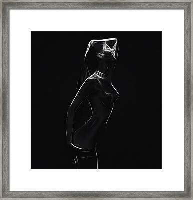 Girl In The Dark Framed Print by Stefan Kuhn