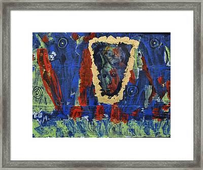 Girl In The Mirror Framed Print by Brenda Chapman