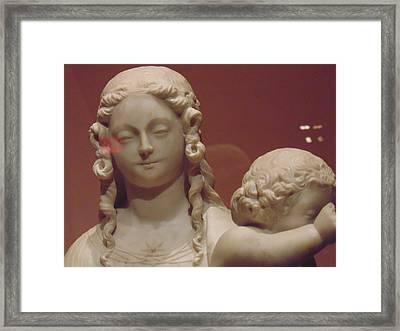 Girl Sculpture Framed Print by Dotti Hannum