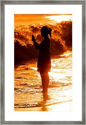 Girl Silhoette Framed Print by Alexander Fedin