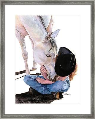 Girl Talk Framed Print by JK Dooley