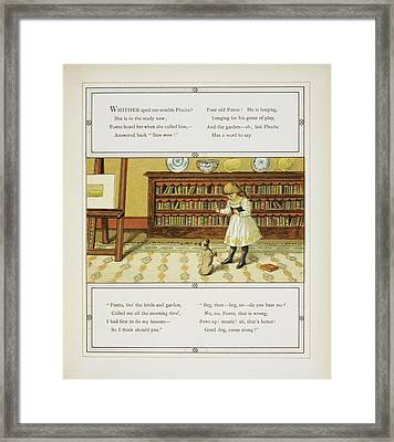 Girl Training Dog Framed Print by British Library