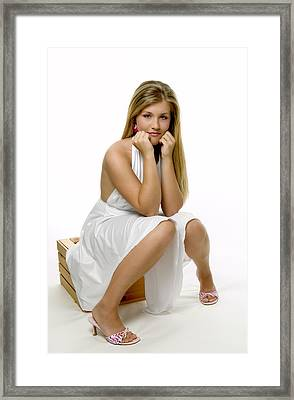 Girl Undecided Framed Print by Bob Pardue
