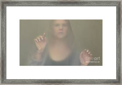Girl Under Glass 2 Framed Print by Ray Dauphinais