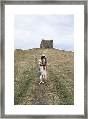 Girl Walks To A Chapel Framed Print by Joana Kruse