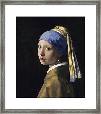 Girl With A Pearl Earring Framed Print by Johannes Vermeer