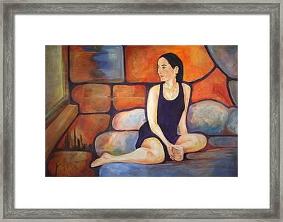 Girl With Martini Framed Print by Martyn Robinson