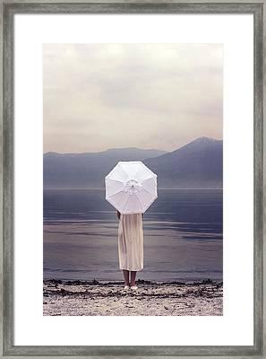 Girl With Parasol Framed Print by Joana Kruse