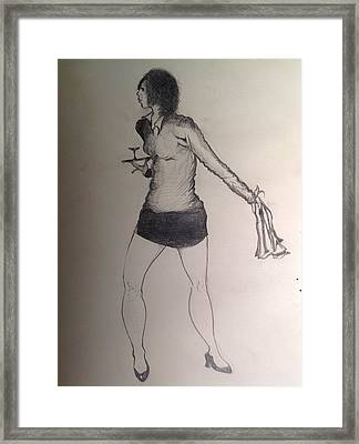 Girl With Towel Framed Print by Robert Hilger