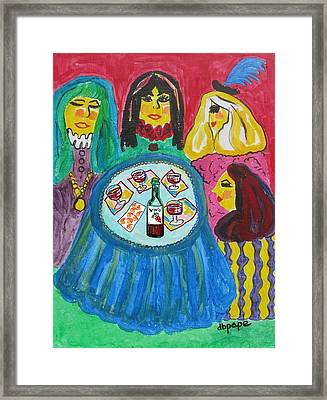 Girls Night Out Framed Print by Diane Pape