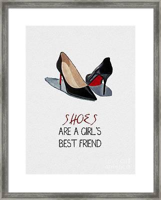 Girl's Best Friend Framed Print by Rebecca Jenkins