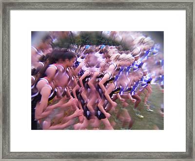 Girls Let The Race Begin Framed Print by Paddy Shaffer