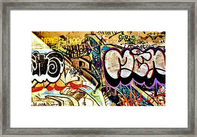 Girls Tag Two Framed Print by Trever Miller