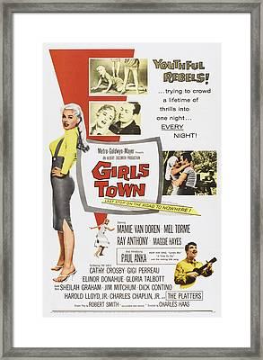 Girls Town, Us Poster, Mamie Van Doren Framed Print by Everett