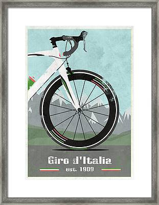 Giro D'italia Bike Framed Print by Andy Scullion