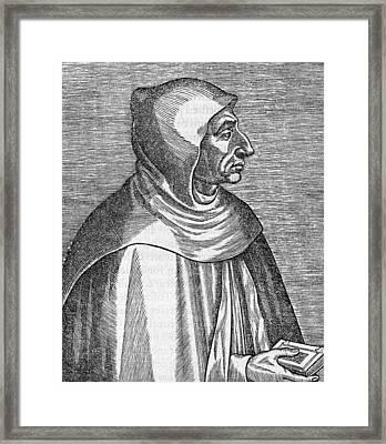 Girolamo Savonarola, Italian Priest Framed Print by Science Photo Library