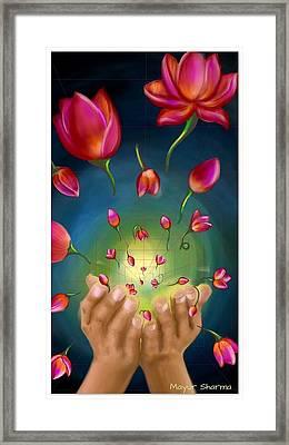Give Away Framed Print by Mayur Sharma