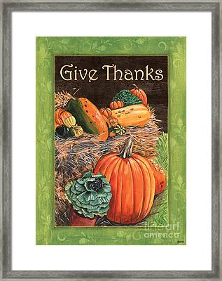 Give Thanks Framed Print by Debbie DeWitt