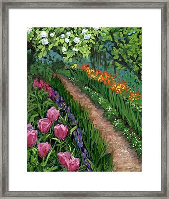 Giverny Garden Framed Print by Alice Leggett
