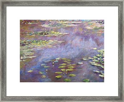 Giverny Nympheas Framed Print by David Lloyd Glover