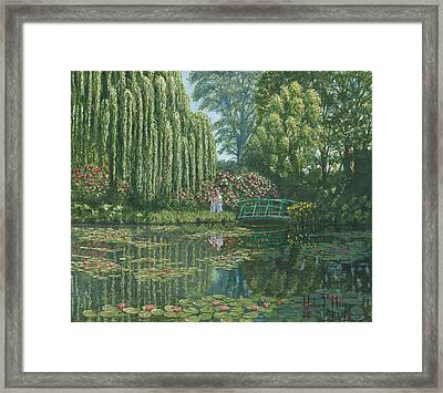 Giverny Reflections Framed Print by Richard Harpum
