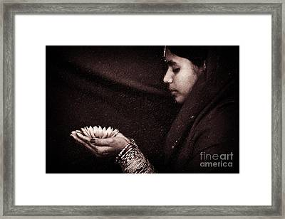Giving Framed Print by Tim Gainey