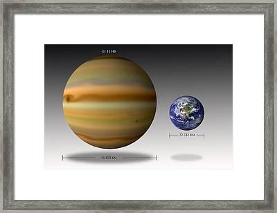 Gj 1214b Comparison Framed Print by Marc Ward