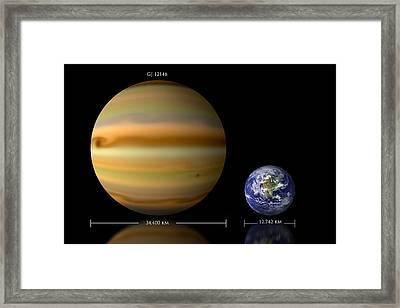 Gj 1214b Comparison No.2 Framed Print by Marc Ward