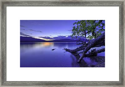 Glacier Blue Framed Print by Chad Dutson
