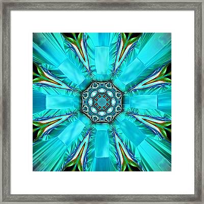 Glacier Blue Framed Print by Wendy J St Christopher