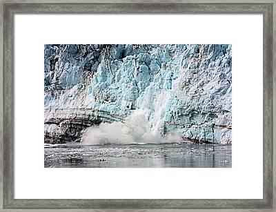Glacier Calving Margerie Framed Print by Kristin Elmquist